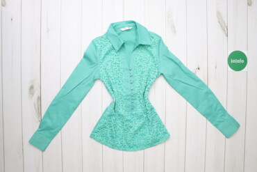 Рубашки и блузы - Цвет: Голубой - Киев: Жіноча сорочка з мереживом, p. S    Довжина: 62 см Ширина плечей: 33 с