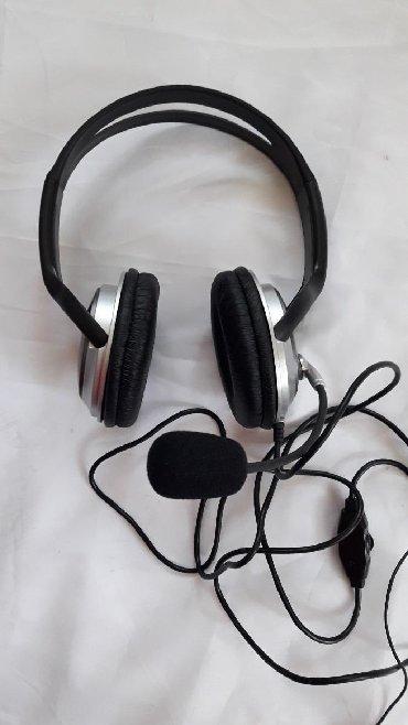 ширма недорого в Азербайджан: Наушники с микрофоном. Новые. Не использовались. Недорого. 3 AZN