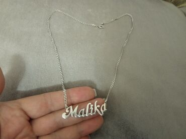 Цепочку и браслет - Кыргызстан: Продаю цепочку с кулоном именную,носила мало,в отличном