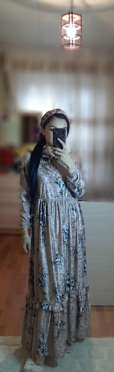 платье из королевского бархата в Кыргызстан: Продаю красивое платье королевский бархат покупала за 4800Отдам за