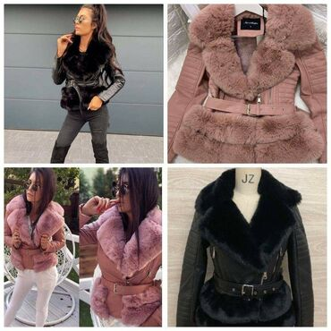 Monton jakna Crna S Roze L i XL Bež XL  Samo poruke