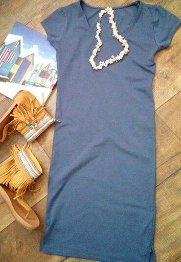 Elastina nijanse - Srbija: Uska pamučna haljina /S/M / NOVOPraktična letnja haljina predivne