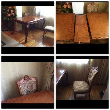 Endirimmalaziya istehsalı işləməli stol 6ededstul stol açılır ev