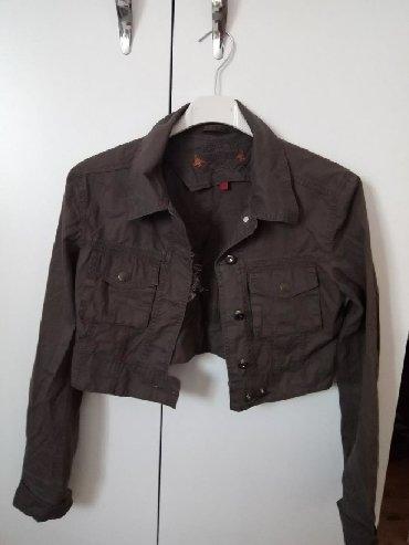 Jakna-markirana-broj - Srbija: Kratka jakna od keper Kao nova,markirana