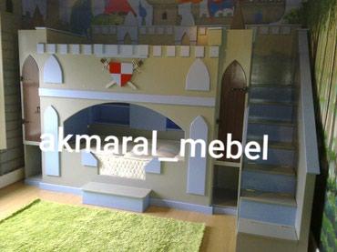 """Детская мебель в Кок-Ой: Кровать """"Гладиатор """" размер матраса 190/80см толщина матраса 18см"""