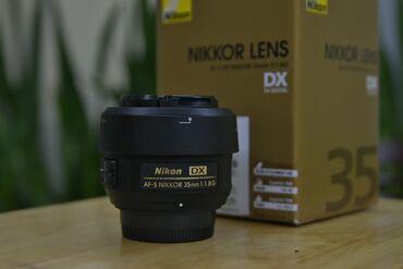 Obyektivlər və filtrləri - Azərbaycan: Nikon 35mm f/1.8g DX Şüşə kimi, tozdan cızıqdan qorumuşam.Garanti