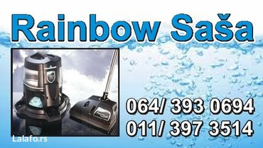 Rainbow uređajem dubinsko   čišćenje i pranje tepiha, itisona, staza, - Beograd