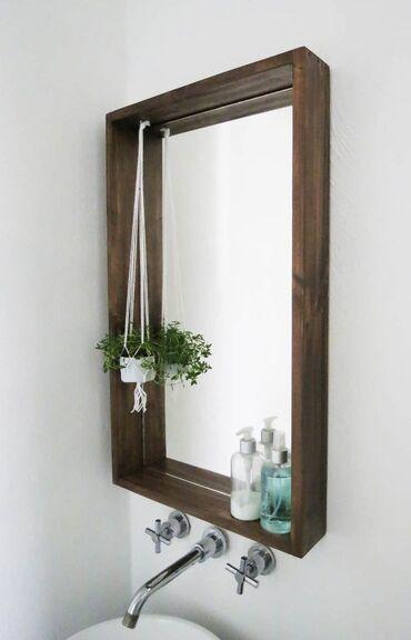 Зеркала из дерева на заказ, зависит от размера