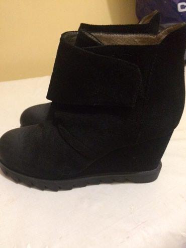 черные замшевые ботильоны в Кыргызстан: Замшевая обувь/деми/ на платформе в отличном состоянии, удобная