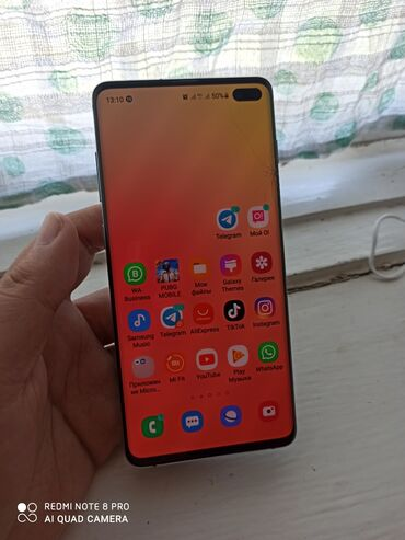 samsung galaxy c7 в Кыргызстан: Б/у Samsung Galaxy S10 Plus 128 ГБ Зеленый