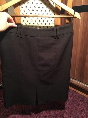 Poslovno elegantni komlet - Srbija: Tamno braon elegantna/poslovna Happening suknja, velicina 36 ili M