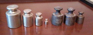 Гири калибровочные 1 кг - 1 шт. , 500 г. - 3 шт. , 200 г. - 2 шт. , в Бишкек