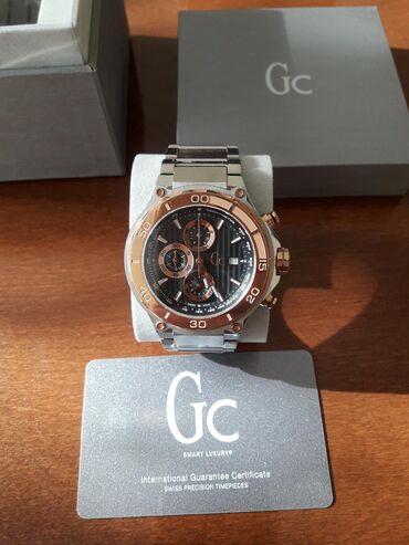Продаю швейцарские часы GC X56008G2S Мужские 44 мм стальной браслет и