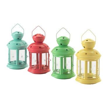 Фонарь-подсвечник для греющей свечи от Икеа (4 яркие расцветки). Высот в Лебединовка