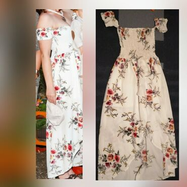 92 oglasa: Prelepa haljina M/LPrelepa haljina cvetnog dezena,gornji deo sa