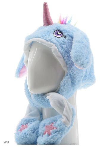 Шапка Единорог с двигающимися ушами цвет белый,розовый голубой сиренев