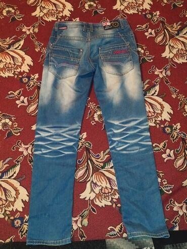 чёрные зауженные джинсы мужские в Кыргызстан: Б/у Джинцы подросковые в хорошем состоянии (как новые ) цена