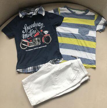 Majica i bermude - Srbija: Majica na straftice H&M i bermude i majica C&A. Velicina
