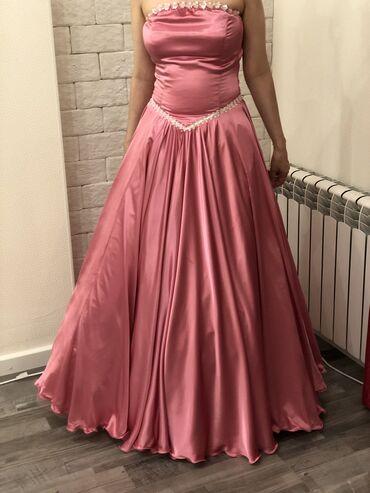 Бальное платье! Сшили на заказ!( 8м ткани). Одели один раз