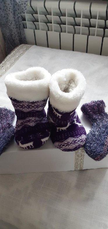 теплые береты в Азербайджан: Теплые тапочкикак новые +в подарок насочки теплыепойдут от 2 до 3