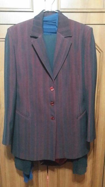 шерстяные женские костюмы в Азербайджан: Брючный костюм,б/у ( женский)пару раз,состояние отлично размер 48