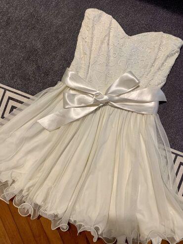 Haljine - Paracin: Nova,svecana,bela haljinica nosena samo jednom.Velicina M
