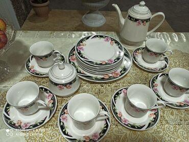 1492 объявлений: Продам новый сервис чайный 22 предмета 6 закусочных тарелок1