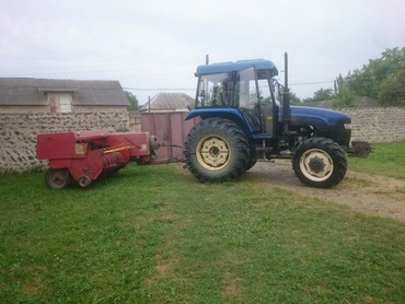Yük və kənd təsərrüfatı nəqliyyatı Balakənda: Pres bagliyan selka ve traktor 3 birlikde