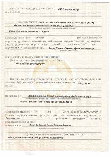 проточный кран водонагреватель купить в Кыргызстан: Продается участок 4 соток Для бизнеса, Срочная продажа, Красная книга, Договор купли-продажи