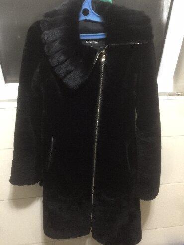 бобер и в Кыргызстан: Шуба мутон, воротник бобер, 46 размер