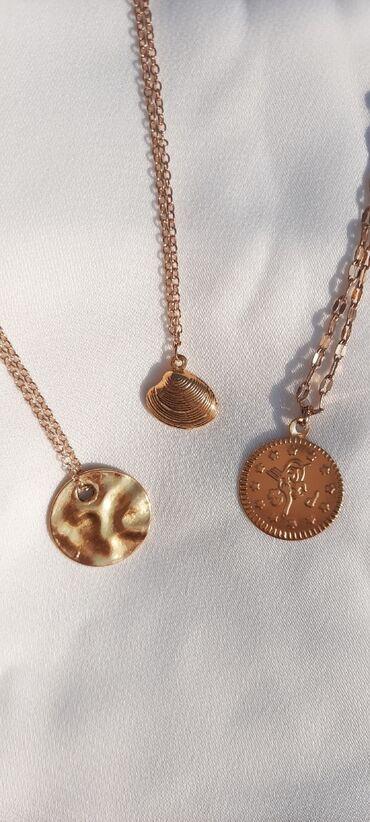 Ogrlice od mesinga u boji zlata
