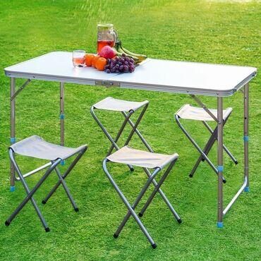 Ovçuluq və balıqçılıq - Azərbaycan: Piknik stol stulu teze mallar Qatlanan stol stul Deniz ucun stol stul