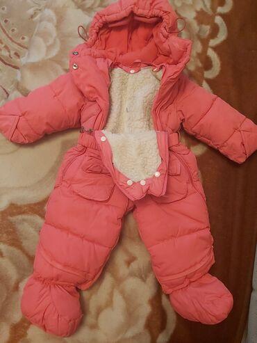 Детский слипик - Кыргызстан: Детский комбенизон. Зима. До 1года. Очень тёплый. Состояние идеальное
