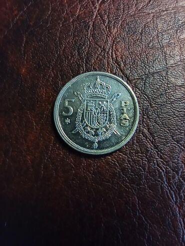 Kovanica 5 pezeta Španija