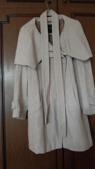 Zara-kaput - Srbija: Zara kaput predivan xl vel.bež boje očišćen na hemijskom,nema nigde