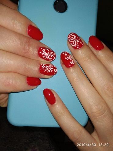шеллак маникюр наращивание ногтей в Кыргызстан: Маникюр, педикюр, шеллак, наращивание ногтей. Дизайн ЛЮБОЙ сложности!