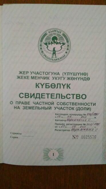 Недвижимость - Тамчы: 160 соток, Для сельского хозяйства, Собственник, Красная книга