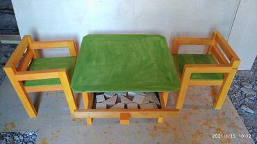 Для детей 1 Стол  2 стул и кубики 1700 сом