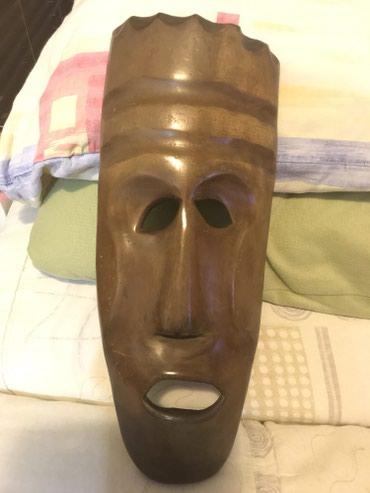 Maska, cisto drvo, africki motiv.  - Belgrade