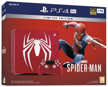 ps4 бишкек in Кыргызстан | ЖҮК ТАШУУ: Playstation 4pro  spider man все 3-части ведьмак 3 все 3dlc каменный с