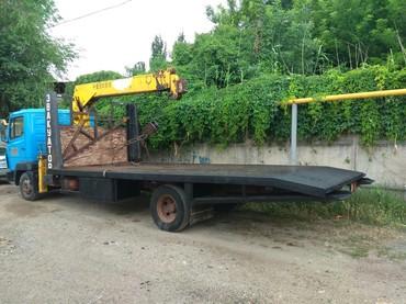 Кран. Кран манипулятор для перевозки павильонов и контейнеров в Бишкек