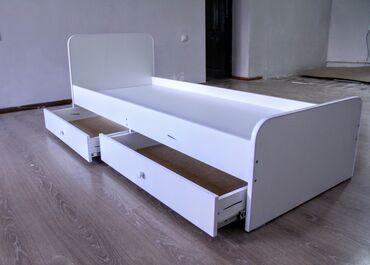 Детская мебель - Цвет: Белый - Бишкек: Акция! Новая! Детская-подростковая кровать без острых углов с