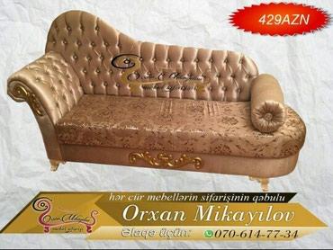 Jozefin divan 429azn Uzunluğu 2.20( standart 1.90) olur.Rengi в Oğuz