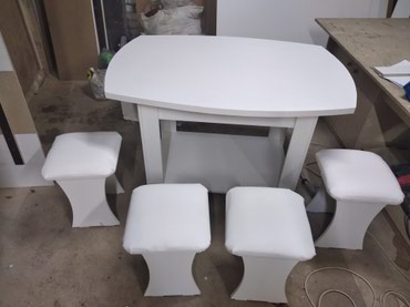 столы на переднем плане в Кыргызстан: Стол и стулья для кухни стол с роликами овальные на заказ