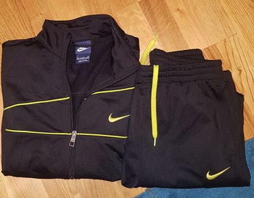 Nike original xl crna trenerka sa neon zutim detaljima. Decija, za - Belgrade