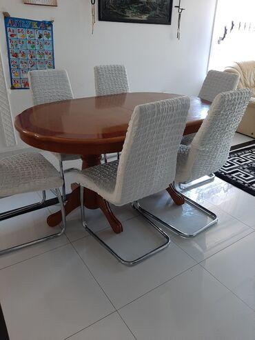 Kuća i bašta - Kostolac: Prekrivaci za stolice 6 komada u belo.boji