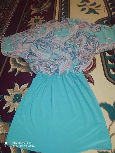 Продаю платье бирюзового цветадо коленодевали 2раза