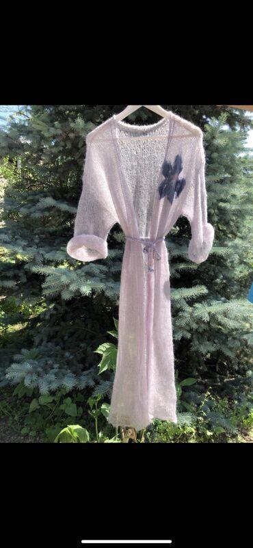 вязаное платье в пол в Кыргызстан: Вязаные кардиганы из натурального кид мохера