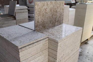 Сары таш - травертин - это уникальный камень, который отличается