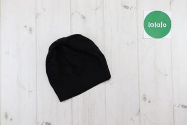 Жіноча чорна в`язана шапка    Висота: 20 см Напівобхват голови: 20 см